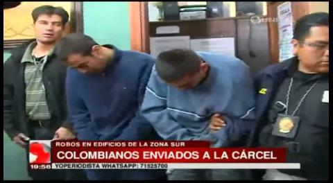 La Paz: Envían a tres colombianos a la cárcel acusados de robar en edificios