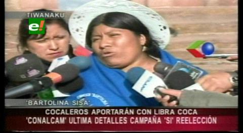 Cocaleros apoyarán campaña de repostulación de Evo con una libra de coca