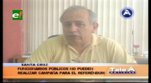 TSE: Funcionarios públicos no pueden hacer campaña por referéndum de repostulación
