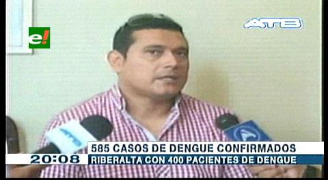 585 casos confirmados de dengue en Beni