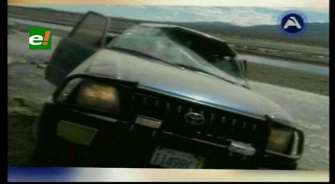 Oruro: Periodistas sufren accidente de tránsito en Pisiga