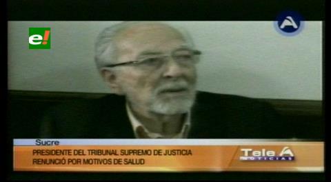 Von Borries renuncia a la presidencia del Tribunal Supremo de Justicia de Bolivia