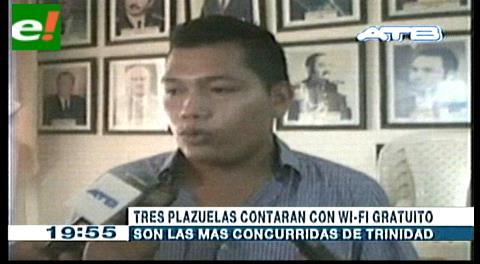 Tres sistemas de Wi Fi libres serán instalados en plazas de Trinidad