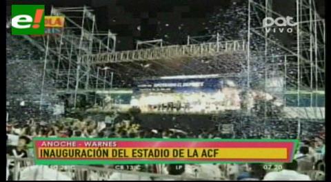 Warnes: Inauguraron el Estadio de la ACF