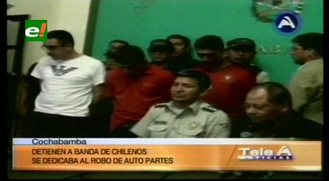 Cochabamba: Detienen a cinco chilenos que se dedicaban al robo de auto partes