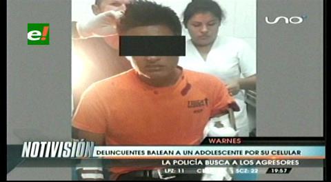 Warnes: Delincuentes balean a un adolescente por robarle su celular
