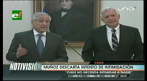 Respuesta a Bolivia: Chile afirma que no necesita intimidar a nadie