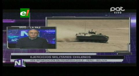 Ejercicios militares de Chile: Ministro de Defensa dice que Bolivia no ingresará a una carrera armamentista