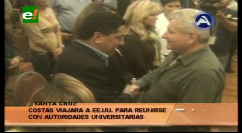 Rubén Costas viajará a EEUU para atraer inversiones
