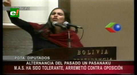 """Diputada Montaño: """"La alternancia del pasado era un pasanaku"""""""