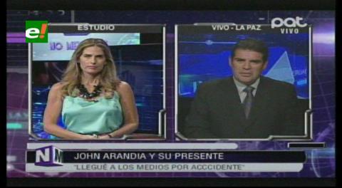 """John Arandia: """"Hasta cierto momento tuve libertad en Cadena A, por eso tomé otro camino"""""""