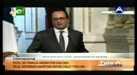 Demanda marítima. Hollande aboga por el diálogo en el diferendo entre Bolivia y Chile