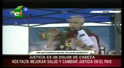 """García Linera reconoce que la Justicia """"es un dolor de cabeza"""""""