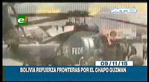 """Titulares de TV: Bolivia refuerza sus fronteras por el """"Chapo"""" Guzmán"""