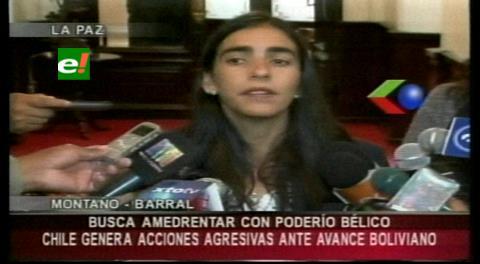 Diputada Montaño ve 'desconcierto' en la clase política chilena