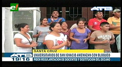 Estudiantes piden cambio del decano de Chiquitos