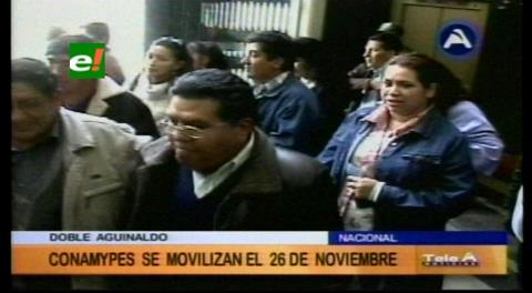 Conamype anuncia marcha para no pagar el doble aguinaldo