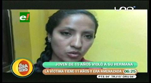 Quinceañero violaba a su hermana de 11 años