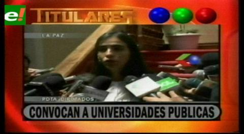 Titulares de TV: Gobierno convoca a universidades públicas para explicar la Ley de Incentivo