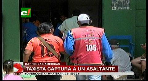 Taxista capturó a asaltante en el Barrio Las Américas