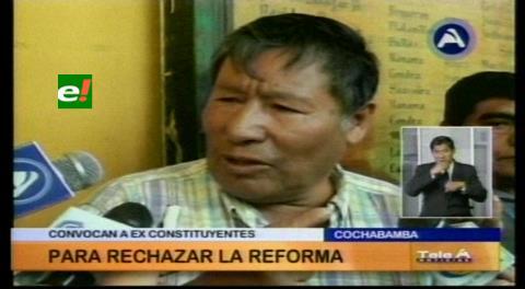 Reelección de Morales: Román Loayza convoca a ex constituyentes a rechazar la reforma a la CPE