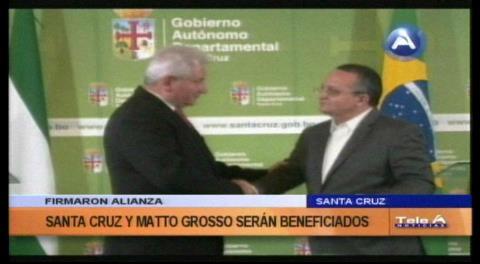 Santa Cruz y Mato Grosso acordaron afianzar lazos de cooperación