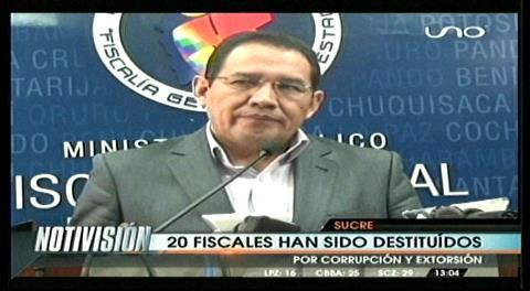 Fiscal General destituye fiscales y los procesa penalmente