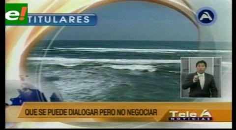 Titulares de TV: Insulza dice que se puede dialogar pero no negociar con Bolivia el tema marítimo