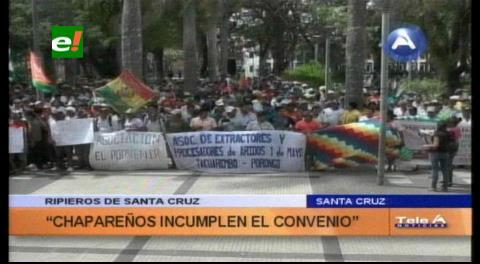Ripieros marchan exigiendo el respeto a un convenio de cupos