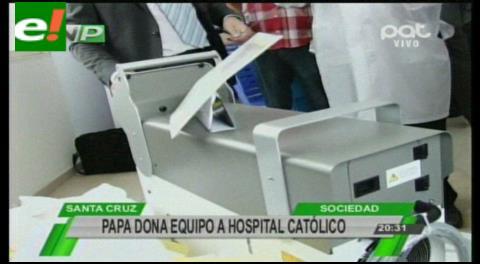 Papa Francisco dona equipo para destrozar los cálculos renales