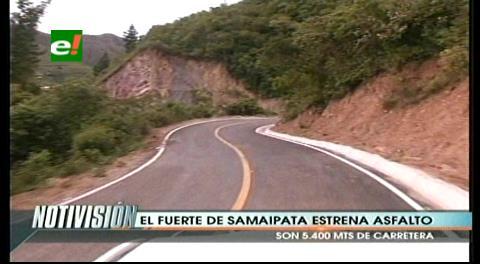 El Fuerte de Samaipata tiene su ingreso asfaltado