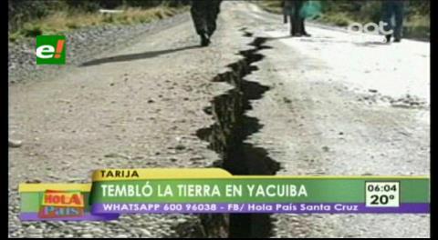 Dos temblores en Jujuy se sintieron en Tarija y Yacuiba