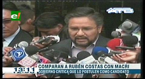 """Viceministro Rada: """"Rubén Costas es el Macri boliviano"""""""