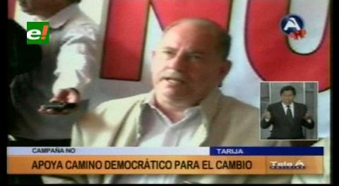 Tarija: Camino Democrático al Cambio va por el NO a la reeleción de Evo Morales