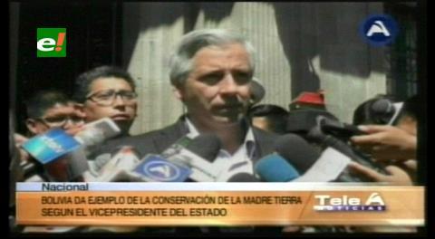 García Linera: Bolivia da ejemplo de la conservación de la Madre Tierra