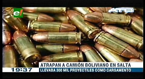 Argentina: Encuentran 300 mil balas en un camión boliviano