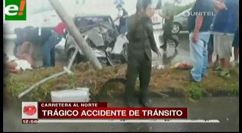 Trágico accidente en la carretera al norte dejó un fallecido