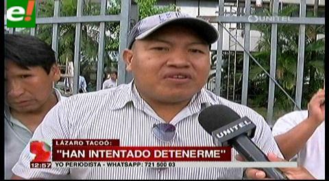 Dirigente indígena denuncia intento de aprehenderlo