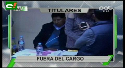Titulares de TV: Renuncia Fiscal del Distrito de La Paz después de ser encontrado en un centro nocturno ilegal