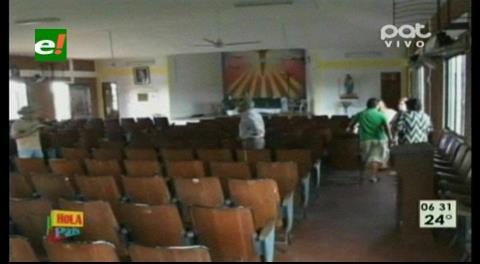 Roban equipos valuados en Bs 8.000 de una Iglesia