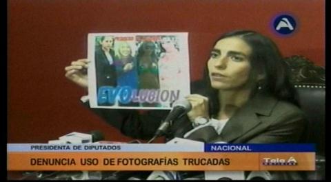 Montaño denuncia el uso de fotografías trucadas