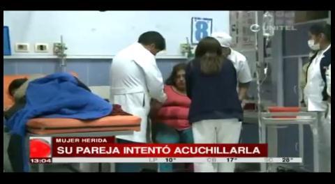 La Paz: Un hombre intentó apuñalar a su pareja durante una discusión