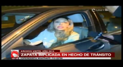 Zapata tuvo un incidente con Tránsito en 2015