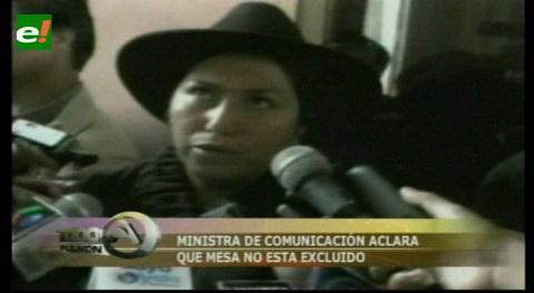 Ministra Paco, aclara que Mesa no fue invitado al equipo de La Haya, por tratarse de reunión jurídica