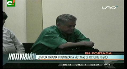 Titulares de TV: Justicia ordena indemnizar a víctimas del Octubre Negro