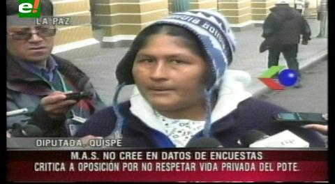 """Diputada Quispe: """"¿Cuántas cholas habrán tenido Tuto, Berzain y Costas?"""""""