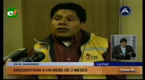 La Paz: Rescatan a un bebé que fue encontrado en un basural