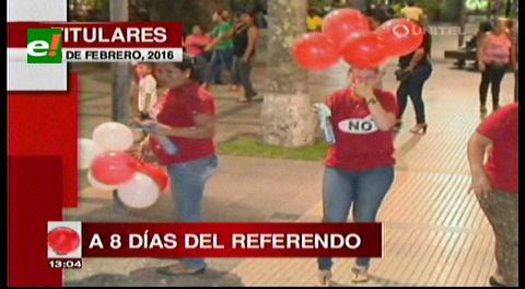 Titulares de TV: A 8 días del referéndum, las campañas por el No y el Sí se intensifican