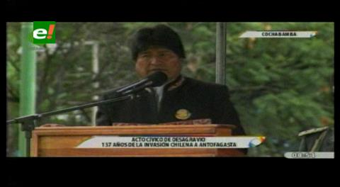 Evo condena invasión de Chile; dice representa impacto negativo de 2.7% del PIB boliviano