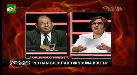 """""""El abogado del diablo"""" (parte II): Amalia Pando denuncia a la """"burguesía del MAS"""""""